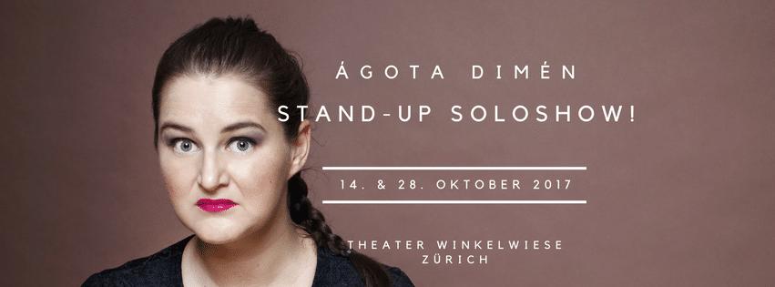 Ágota Dimén Stand-up Comedy Soloshow Banner