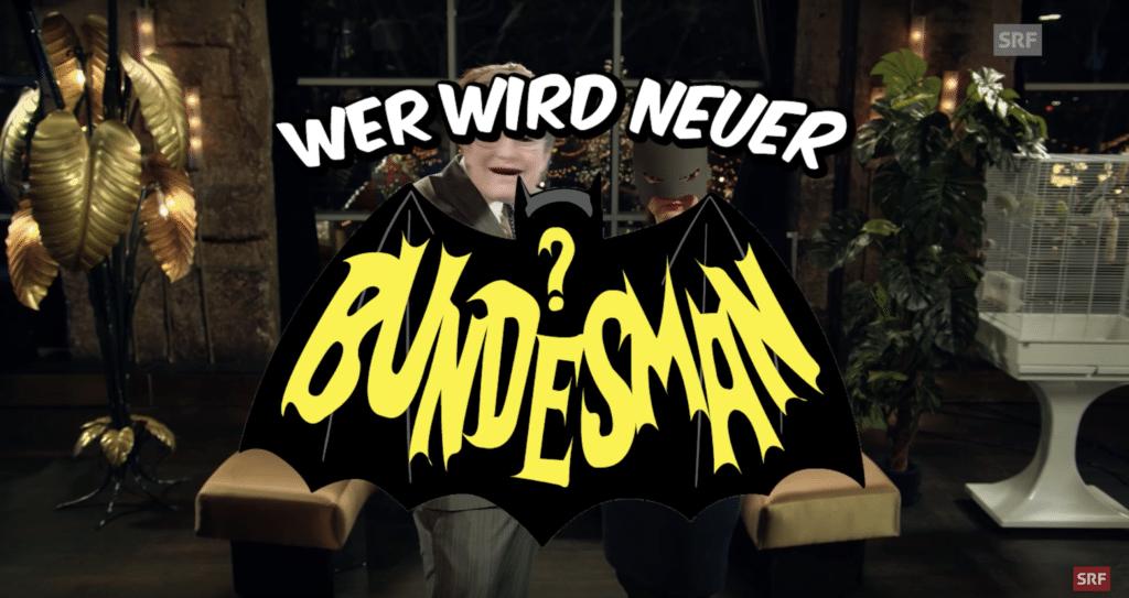 Wer wird neuer Bundesman? Ágota als Batman vs. Dominic als EMS Man aka. Martullo-Blocher