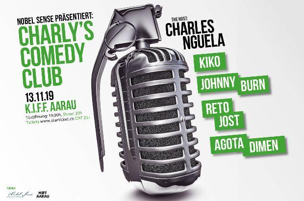 Poster für Charly's Comedy Club mit Agota Dimen